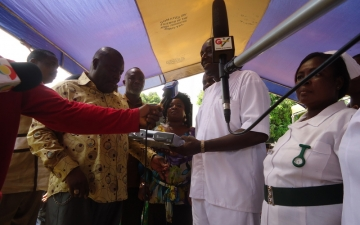 Picture Gallery - Category: Gallery: Emmanuel TV donates TV and Food