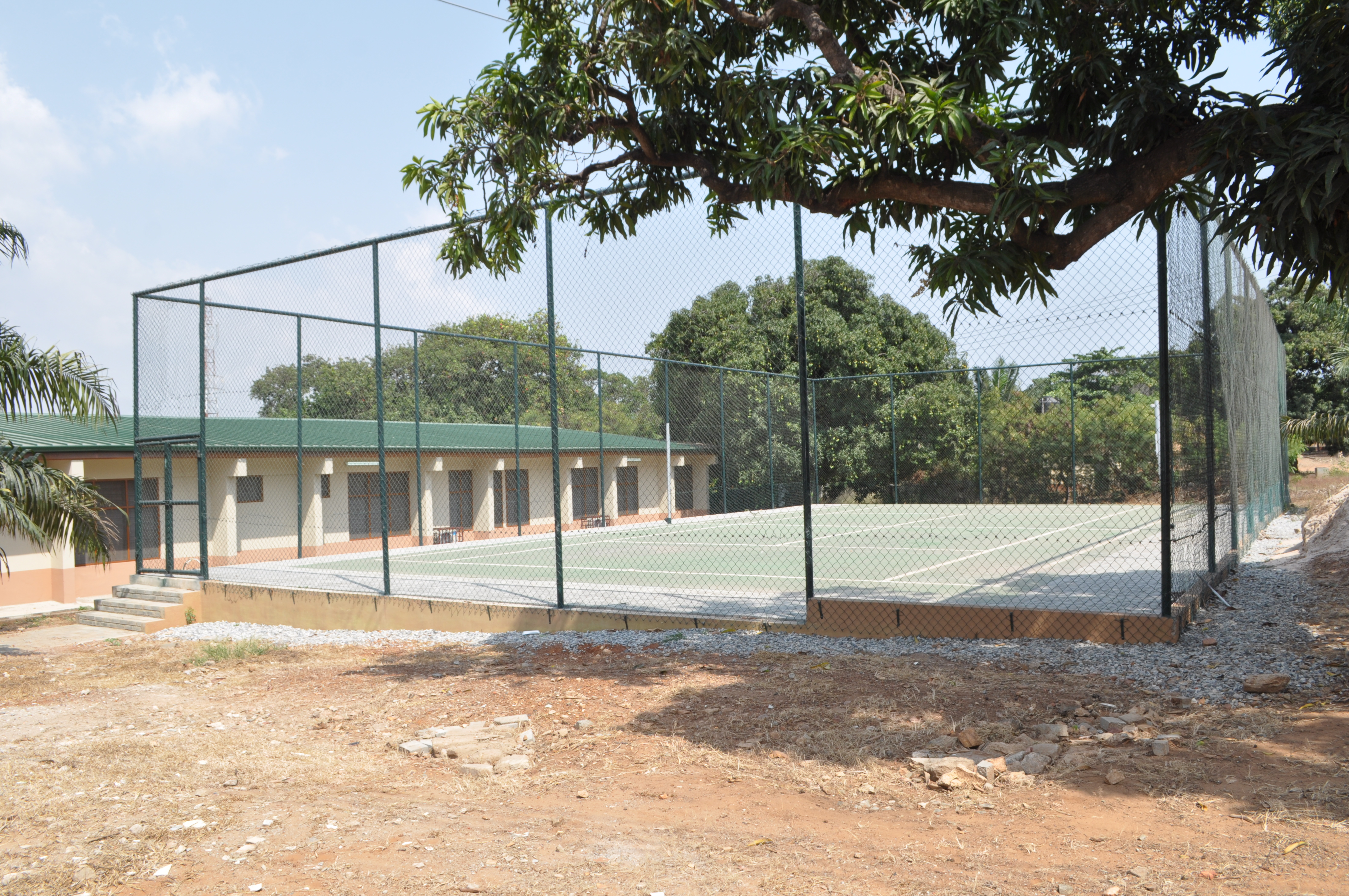 A view of the Tennis Court at the REHABILATION CENTRE