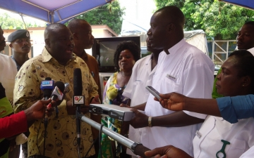 Gallery: Emmanuel TV donates TV and Food items