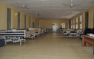 The opening of the renovated Male Infirmary by Ghana Navy
