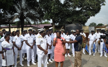 The opening of the renovated Male Infirmary by Ghana Navy _1