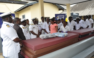 The opening of the renovated Male Infirmary by Ghana Navy _8